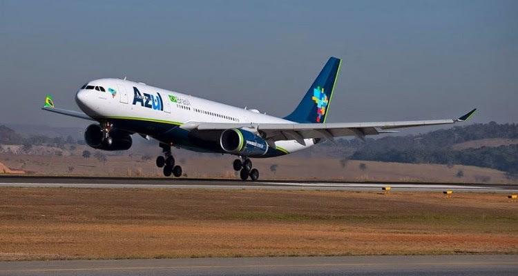 Azul Airbus A330-200 a aterrar_900