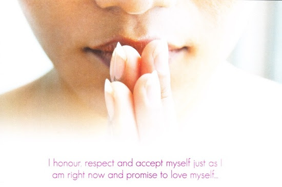 "#affirmation: ""I honour, respect and accept myself just as I am right now and promise to love myself.""  #IAmEnough"