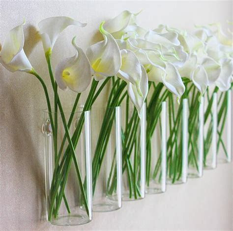 Modern Wall Design Wall Glass Vases Flower Pots Planters