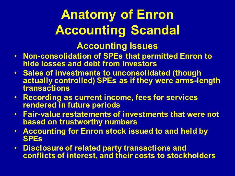 Accounting Enron Scandal