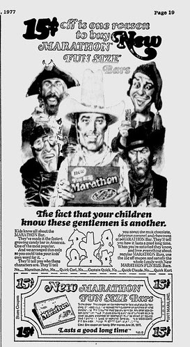 Marathon Fun Size Ad- 1977