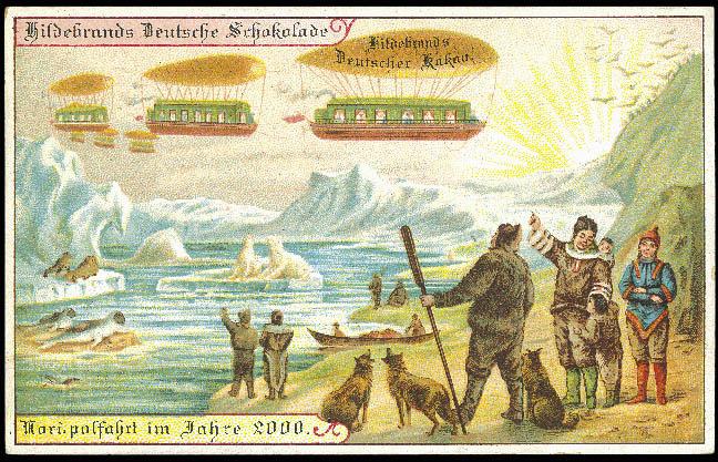 carte postale 2000 futur 11 En 1900, des cartes postales imaginent lan 2000  histoire featured design