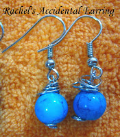 wire wrapped earrings by Rachel