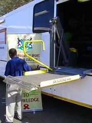 mobile library bus - lift
