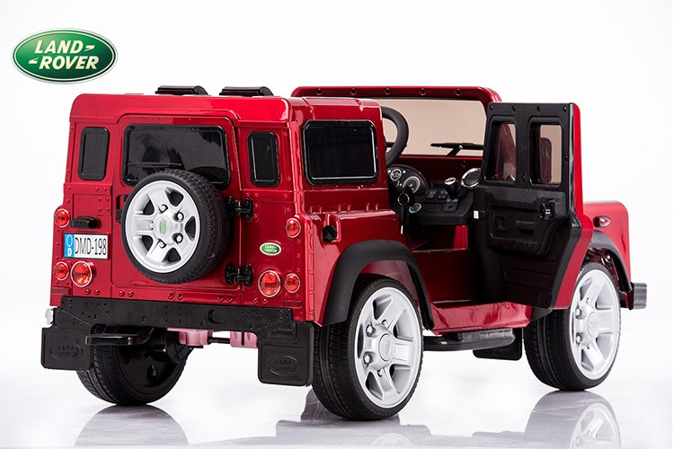 Painting Black Land Rover Defender Kids Ride On Truck Car 12v Electric Powered Wheels With Rc