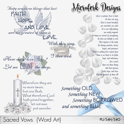 Sacred Vows Word Art
