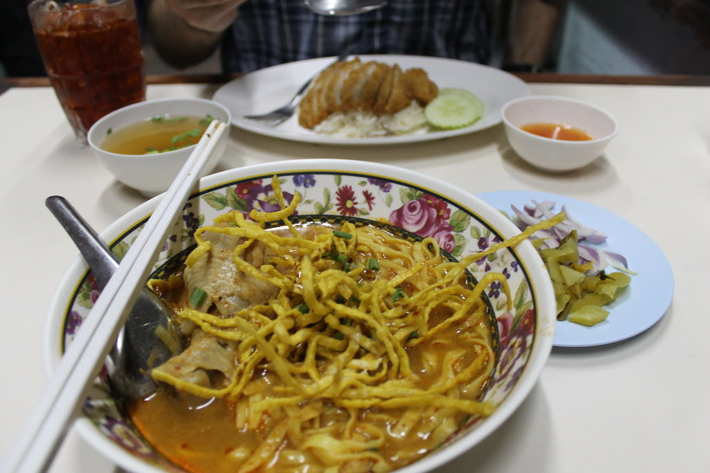 Last meal in Chiang Mai - khao soi curry. YUM.