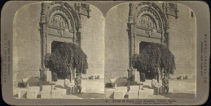 Fotografía estereoscópica de Toledo a inicios del siglo XX. Museo de Santa Cruz. The Omaha Public Library