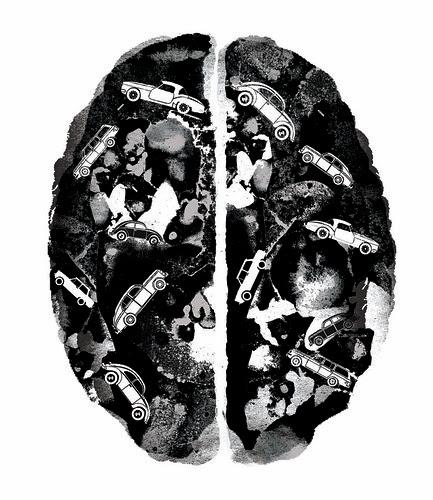 Brain circulation by la casa a pois