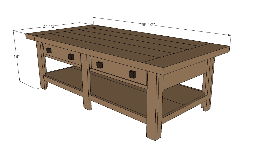 Ana White   Benchright Coffee Table - DIY Projects