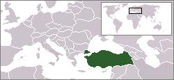 Vị trí của Thổ Nhĩ Kỳ