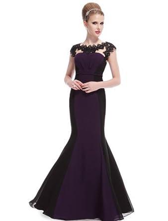 Purple evening maxi dresses