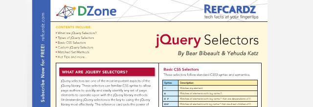 jQuery Selectors - Refcardz (PDF)