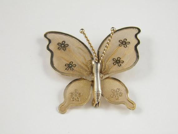 butterfly brooch vintage
