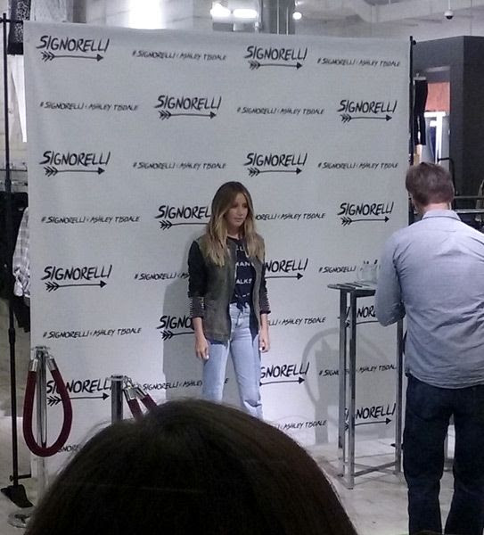 Actress Ashley Tisdale poses for the cameras before doing a meet-and-greet at the Bloomingdale's department store in Santa Monica...on September 10, 2016.