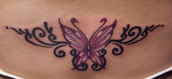 Imaginary Picture Of Butterfly Tramp Stamp Tattoo Ideas Tattoomagz