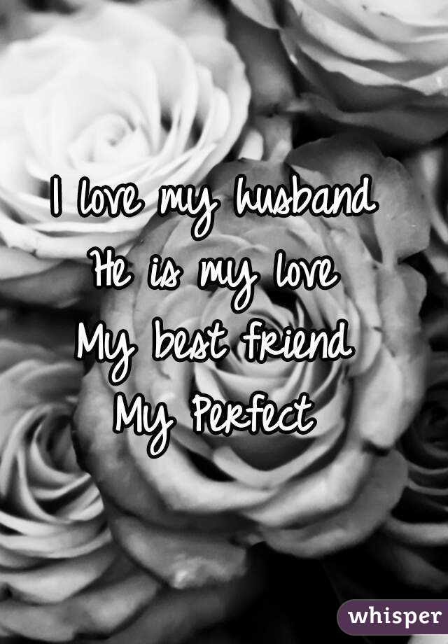 I Love My Husband He Is My Love My Best Friend My Perfect