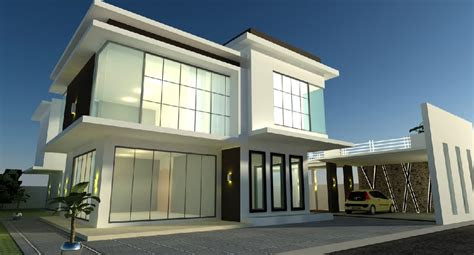 modern bungalow house design malaysia small modern house