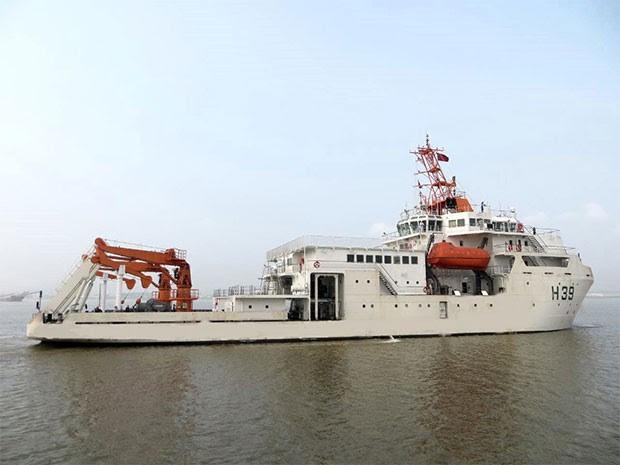 """""""Vital de Oliveira"""" da Marinha do Brasil atracou no porto de Natal (Foto: Divulgação)"""