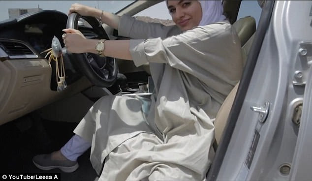 A female singer in Saudi Arabia has recorded a hilarious rap song from the seat of her car to celebrate the end of the country's driving ban for women