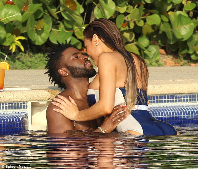 Just the two of us: Jason Derulo only had eyes for girlfriend Daphne Joy as the couple enjoyed their romantic vacation in Maxico this week