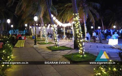 Outdoor Wedding Stage Decoration at RKN Beach Resort