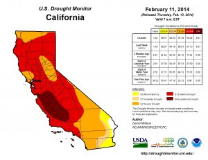 U.S. Drought Monitor California February 11 2014