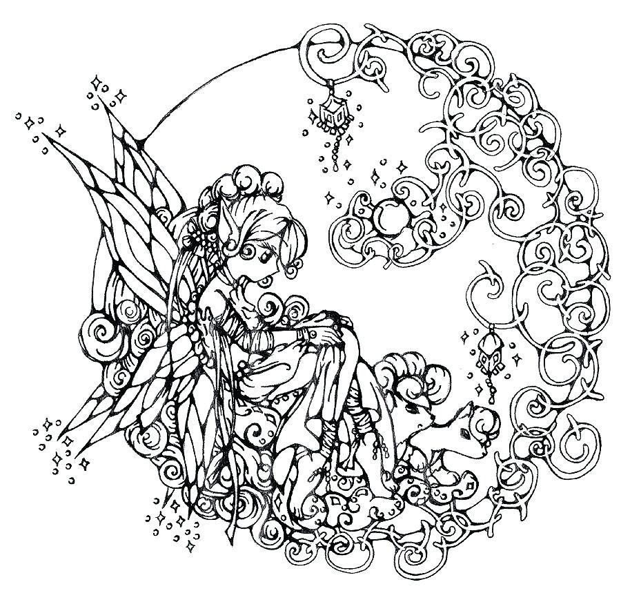 Free Printable Coloring Pages For Adults Dark Fairies at ...