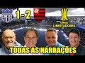 5 narrações dos gols de Emelec x Flamengo - Libertadores 2018