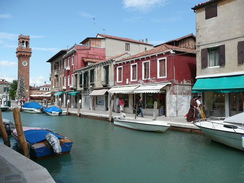 canal view in murano, venice