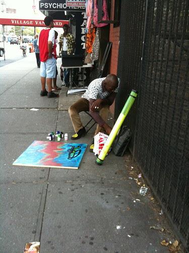 Street artist, 7th Avenue