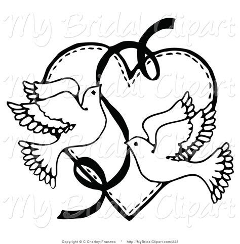 Ceremony clipart wedding love bird   Pencil and in color