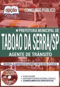 Apostila Concurso Prefeitura de Taboão da Serra 2018 | AGENTE DE TRÂNSITO