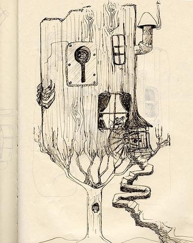 Cornish Litany sketch by Robert Aaron Wiley aka Bindlegrim that originated from the Pumpkin Dream Sketchbook