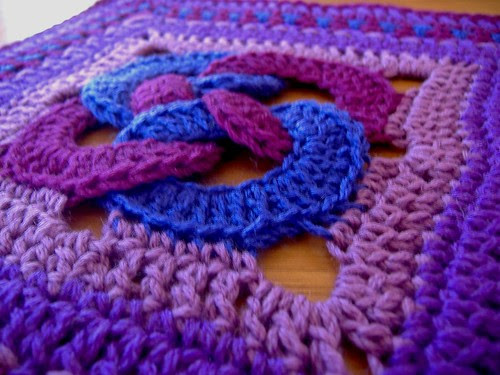 waldo's puzzle - purple - closeup
