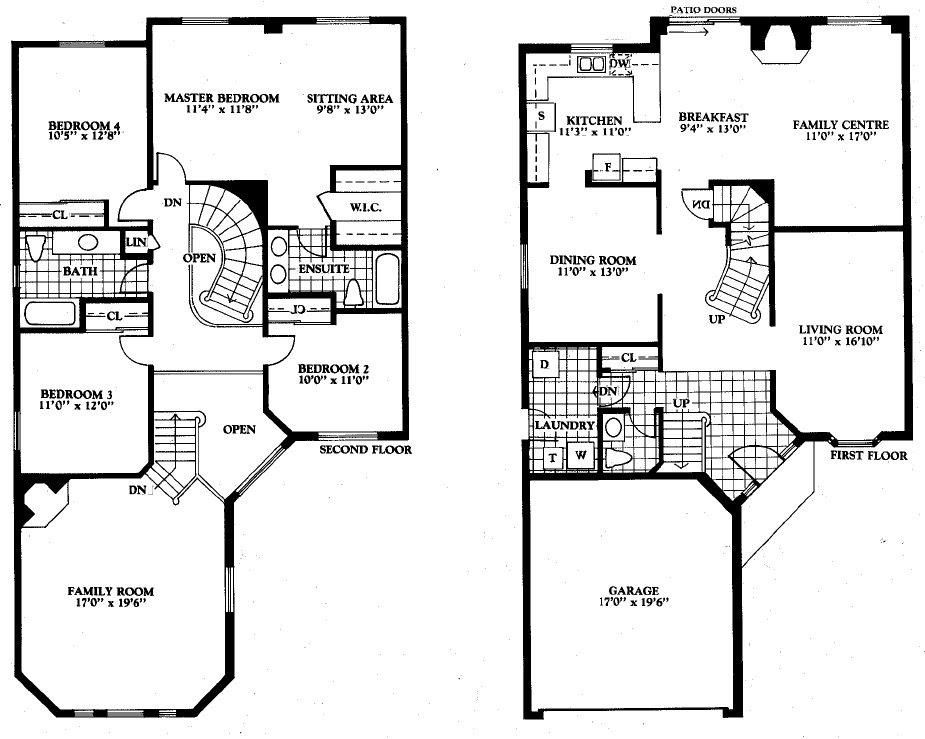 Smart Placement 4 Bedroom Open Floor Plans Ideas - House Plans