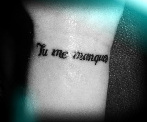 You Are Missing From Me Tattoomagz
