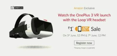Register Now - Amazon OnePlus Loop VR Headset at Rs 1 Only