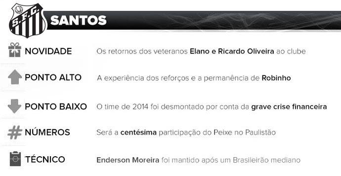 Santos guia do paulistão (Foto: Arte esporte)