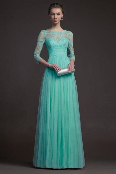Long Sleeve Turquoise Bridesmaid Dresses   Dresscab