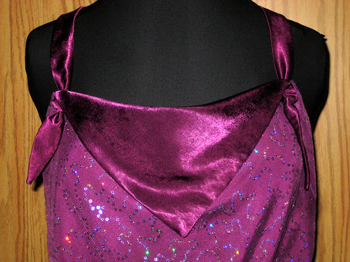 purple sequins bodice