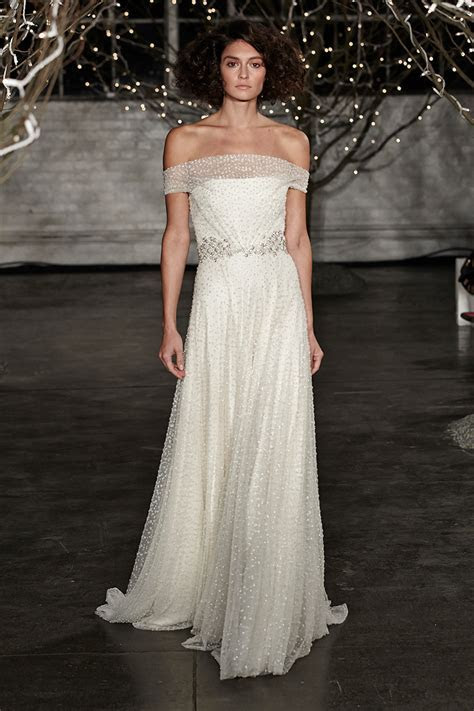 Jenny Packham Spring 2014 wedding dress with off the