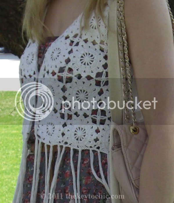 Los Angeles street style H&M Conscious crochet fringe vest