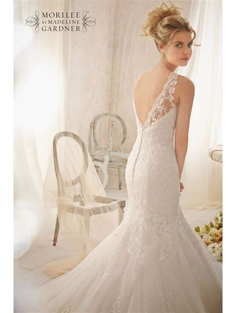 Mori Lee 2610 Ivory Lace Mermaid Wedding Dress
