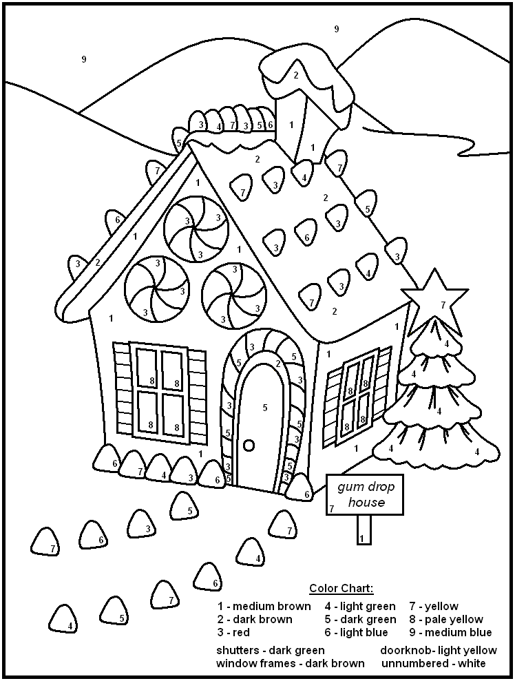 Free Printable Color By Number Coloring Pages For Adults ...