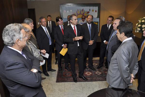 Na manhã de ontem, Glauber Rego e Sérgio Freire visitaram a AL
