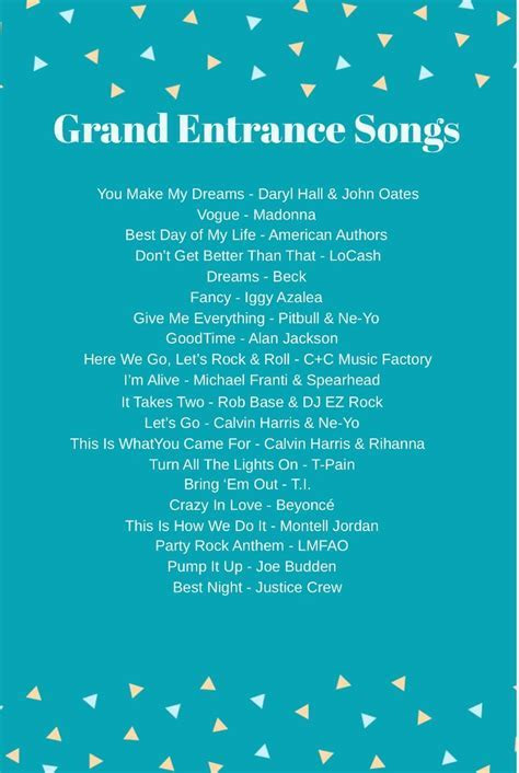 Great songs for the Bridal Party Grand Entrance   Wedding