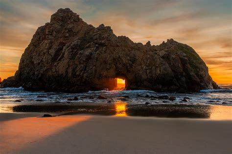 beach pfeiffer beach big sur california united states sun