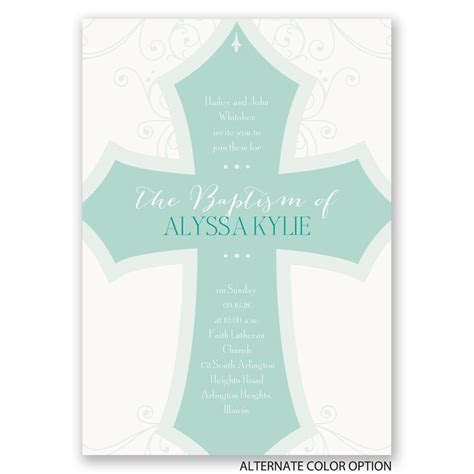 Bold Cross Baptism Invitation   Invitations By Dawn