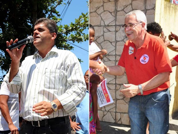 Washington Reis e Alexandre Cardoso em campanha (Foto: Divulgação)